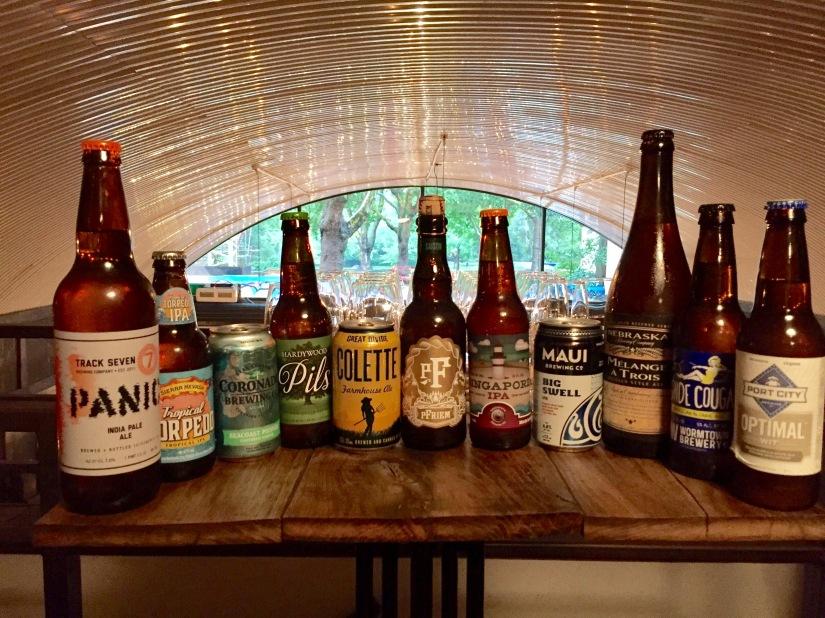 S & W pairing, beer line-up